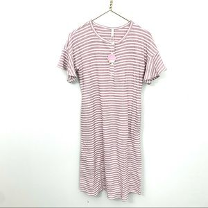 NWT PINKBLUSH button front short sleeve knit t-shi
